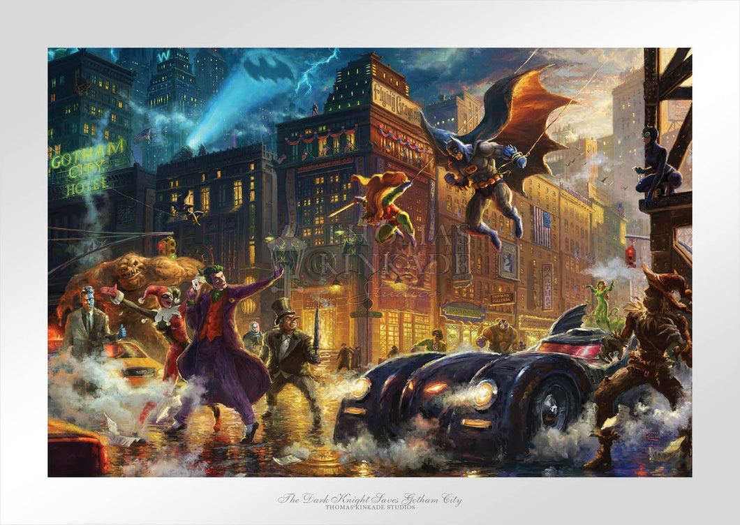 Dark Knight Saves Gotham City, The - Limited Edition Paper - SN - (Unframed)