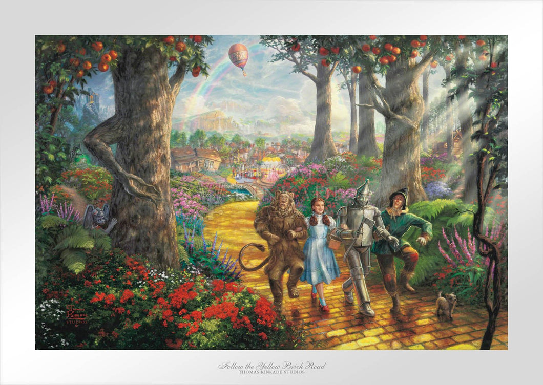 Follow The YELLOW BRICK ROAD - Limited Edition Paper - SN - (Unframed)