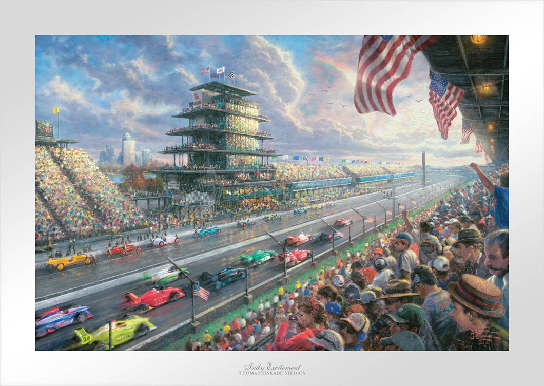 Indy Excitement - Limited Edition Paper - SN - (Unframed)