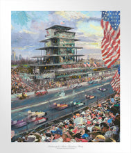 Load image into Gallery viewer, Indianapolis Motor Speedway Study - Limited Edition Paper - SN - (Unframed)