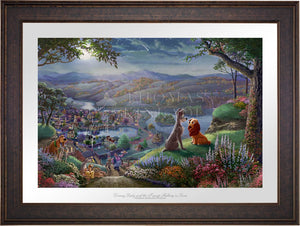 Disney Lady and the Tramp Falling in Love - Limited Edition Paper (SN - Standard Numbered) - ArtOfEntertainment.com