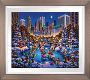 Mickey and Friends Skating in Central Park - Limited Edition Paper (SN - Standard Numbered) - ArtOfEntertainment.com