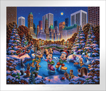 Load image into Gallery viewer, Mickey and Friends Skating in Central Park - Limited Edition Paper - SN - (Unframed)