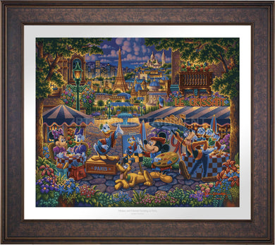 Mickey and Friends in Paris - Limited Edition Paper (SN - Standard Numbered) - ArtOfEntertainment.com