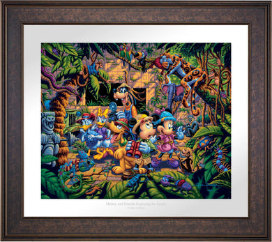 Mickey and Friends Exploring the Jungle - Limited Edition Paper (SN - Standard Numbered) - ArtOfEntertainment.com
