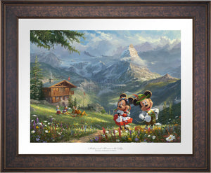 Mickey and Minnie in Alps - Limited Edition Paper (SN - Standard Numbered) - ArtOfEntertainment.com