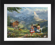 Load image into Gallery viewer, Mickey and Minnie in Alps - Limited Edition Paper (SN - Standard Numbered) - ArtOfEntertainment.com