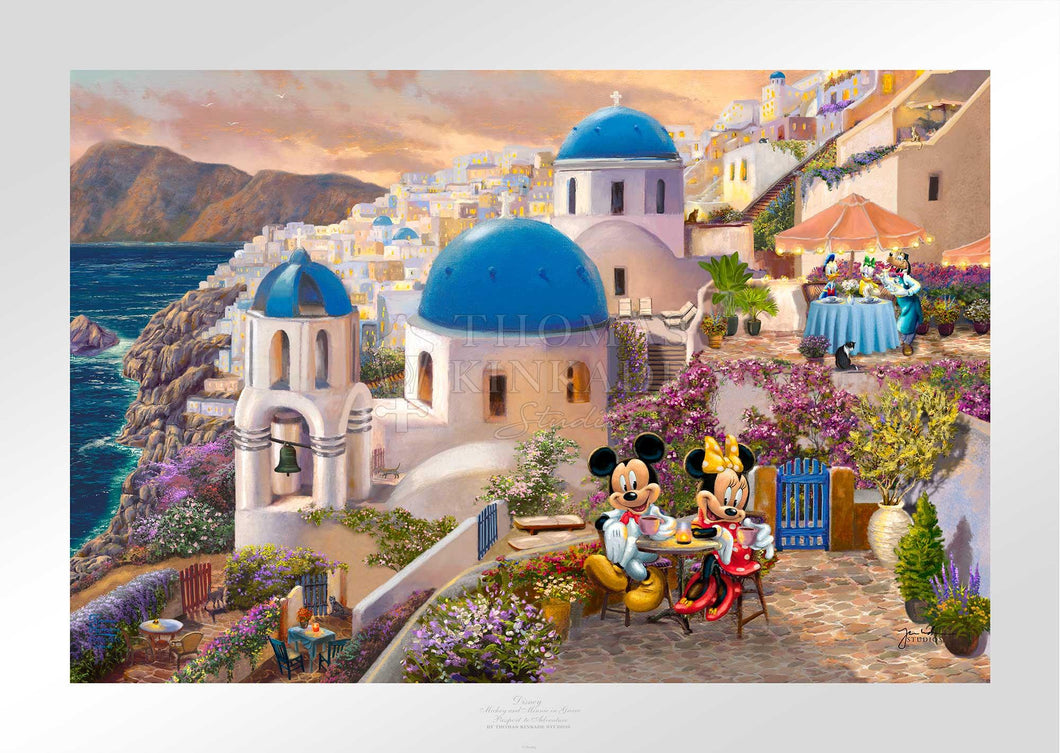 Mickey and Minnie in Greece, Disney - Limited Edition Paper - SN - (Unframed)