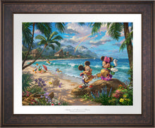 Load image into Gallery viewer, Mickey and Minnie in Hawaii - Limited Edition Paper (SN - Standard Numbered) - ArtOfEntertainment.com