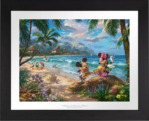 Mickey and Minnie in Hawaii - Limited Edition Paper (SN - Standard Numbered) - ArtOfEntertainment.com
