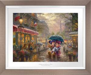 Mickey and Minnie in Paris - Limited Edition Paper (SN - Standard Numbered) - ArtOfEntertainment.com