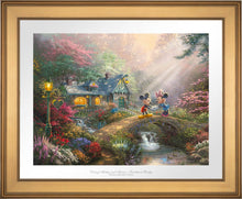 Load image into Gallery viewer, Mickey and Minnie - Sweetheart Bridge - Limited Edition Paper (SN - Standard Numbered) - ArtOfEntertainment.com