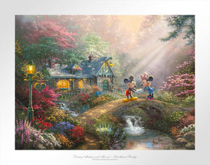 Disney Mickey and Minnie - Sweetheart Bridge - Limited Edition Paper - SN - (Unframed)