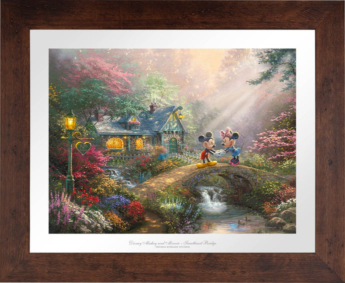 Mickey and Minnie - Sweetheart Bridge - Limited Edition Paper (SN - Standard Numbered) - ArtOfEntertainment.com