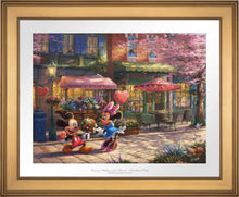Load image into Gallery viewer, Mickey and Minnie - Sweetheart Cafe - Limited Edition Paper (SN - Standard Numbered) - ArtOfEntertainment.com