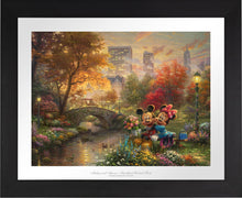 Load image into Gallery viewer, Mickey and Minnie - Sweetheart Central Park - Limited Edition Paper (SN - Standard Numbered) - ArtOfEntertainment.com