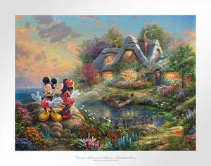 Disney Mickey and Minnie - Sweetheart Cove - Limited Edition Paper - SN - (Unframed)