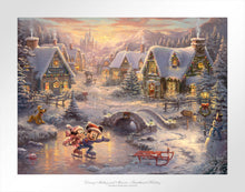 Load image into Gallery viewer, Disney Mickey and Minnie - Sweetheart Holiday - Limited Edition Paper - SN - (Unframed)