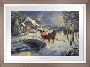 Mickey and Minnie Evening Sleigh Ride - Limited Edition Paper (SN - Standard Numbered) - ArtOfEntertainment.com