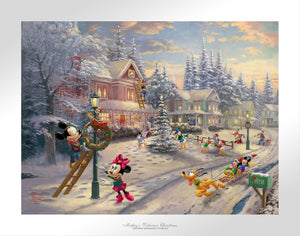 Mickey's Victorian Christmas - Limited Edition Paper - SN - (Unframed)