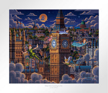 Load image into Gallery viewer, Peter Pan Learning to Fly - Limited Edition Paper - AP - (Unframed)