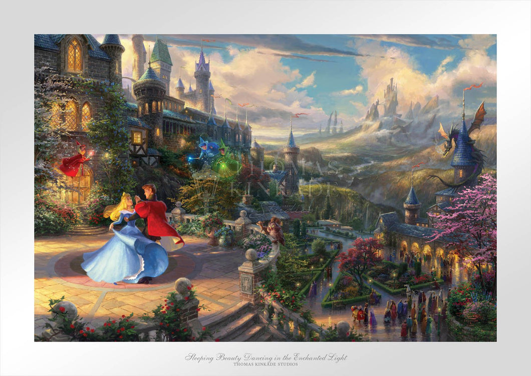 Sleeping Beauty Dancing in the Enchanted Light - Limited Edition Paper - SN - (Unframed)