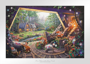Snow White and the Seven Dwarfs - Limited Edition Paper - SN - (Unframed)