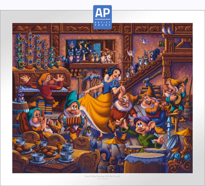 Snow White Dancing with the Dwarfs - Limited Edition Paper (AP - Artist Proof) - ArtOfEntertainment.com