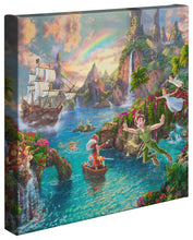 "Load image into Gallery viewer, Peter Pan's Never Land - 14"" x 14"" Gallery Wrapped Canvas 79519"