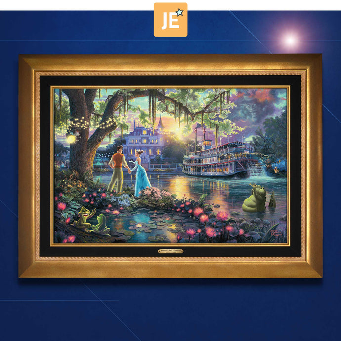 The Princess and the Frog - Limited Edition Canvas (JE - Jewel Edition) - ArtOfEntertainment.com
