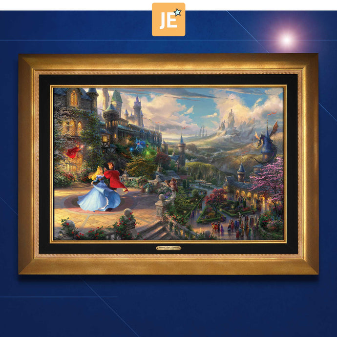 Sleeping Beauty Dancing in the Enchanted Light - Limited Edition Canvas (JE - Jewel Edition) - ArtOfEntertainment.com