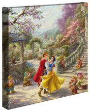 "Load image into Gallery viewer, Snow White Dancing in the Sunlight - 14"" x 14"" Gallery Wrapped Canvas 88289"