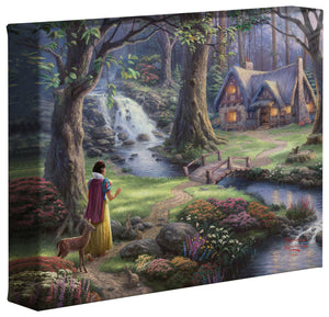 Snow White Discovers the Cottage - Gallery Wrapped Canvas - ArtOfEntertainment.com