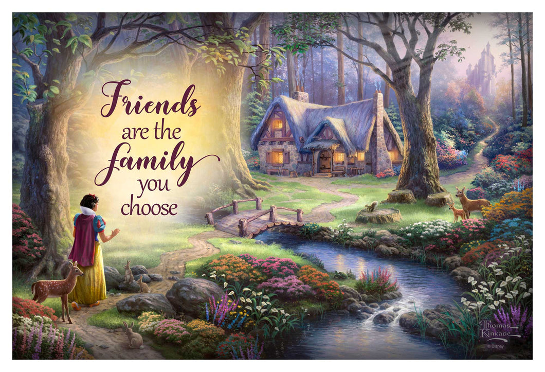 Snow White Discovers the Cottage - Wood Signs - ArtOfEntertainment.com
