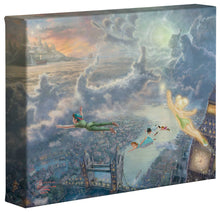 Load image into Gallery viewer, Tinker Bell and Peter Pan Fly to Never Land - Gallery Wrapped Canvas - ArtOfEntertainment.com