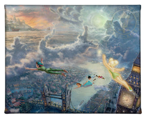 Gallery Wrapped Canvas Tinker Bell and Peter Pan Fly to Neverland