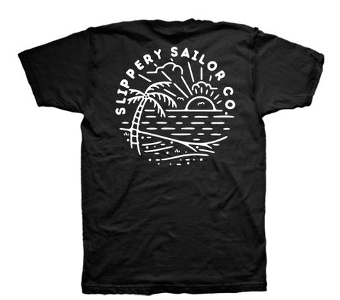 SUNRISE OVER SEA T (BLACK)
