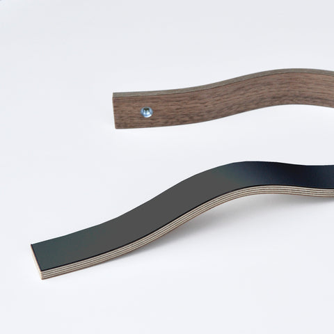 Black laminated wooden handles