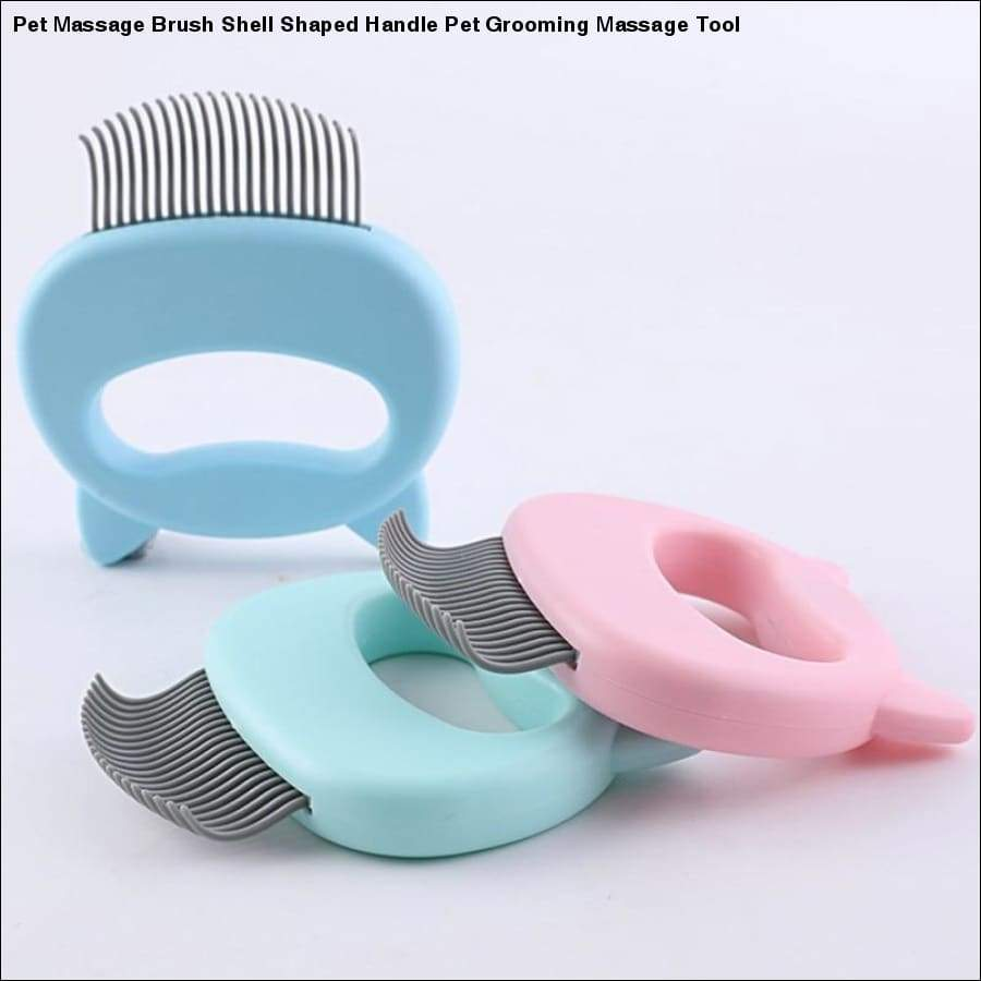 Rxcostore - Pet Massage Brush Shell Shaped Handle - Grooming
