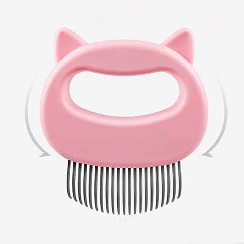 Pet Massage Brush Shell Shaped Handle Grooming Tool
