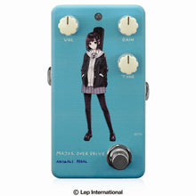"Charger l'image dans la galerie, 【受付終了】【3月入荷予定】Animals Pedal Custom Illustrated 008 Major Overdrive by あしやひろ ""ボブカット"" Light Blue"