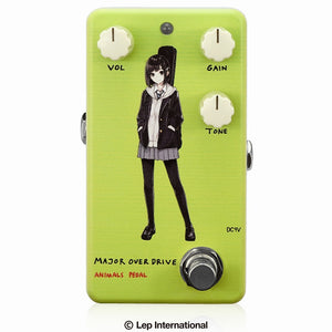 "【受付終了】【3月入荷予定】Animals Pedal Custom Illustrated 010 Major Overdrive by あしやひろ ""ボブカット"" Light Green"