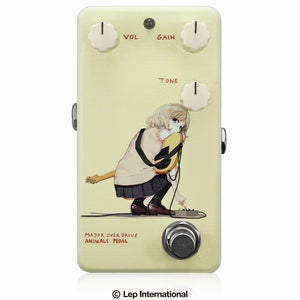 "【受付終了】【3月入荷予定】Animals Pedal Custom Illustrated 013 Major Overdrive by あしやひろ ""Alice"" Faint Yellow"