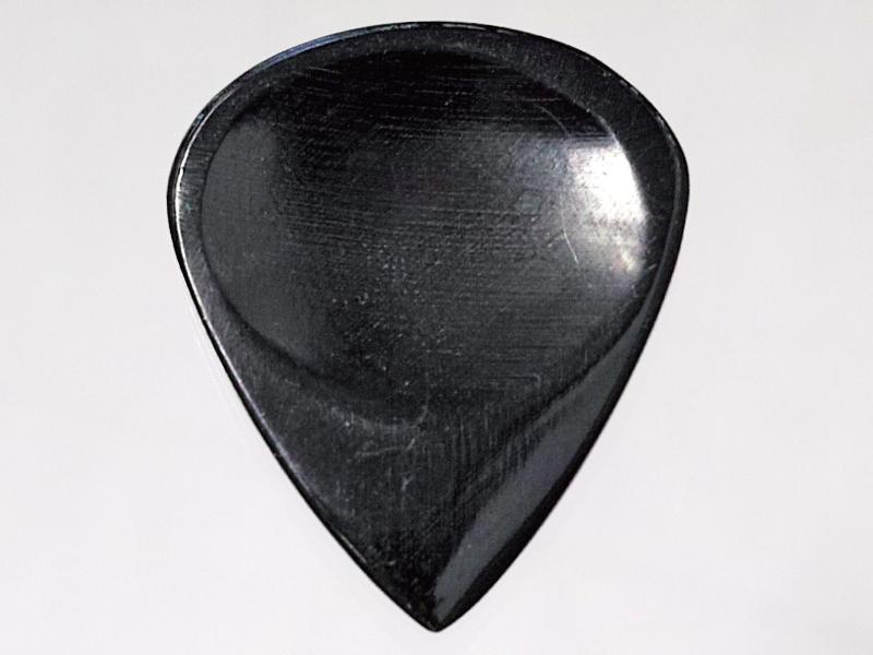 Animals Pedal Wild Picks (CHR-JP-DD-BK) Cow Horn Jazz Pick Double Dent Black