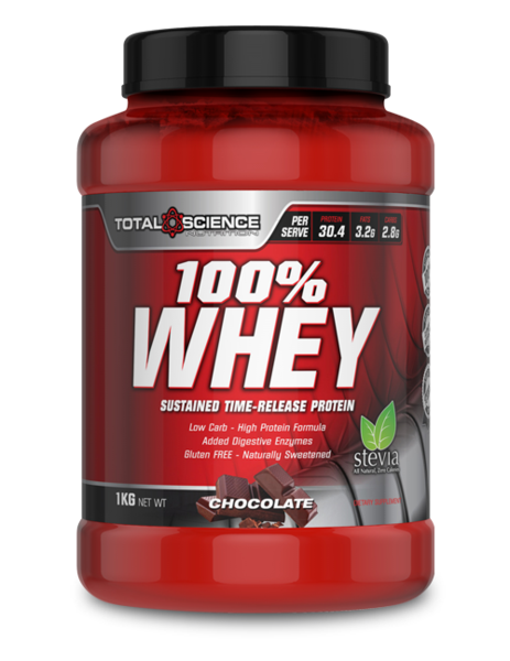 TOTAL SCIENCE 100% WHEY 1KG MULTI - WHEY SUSTAINED RELEASE PROTEIN