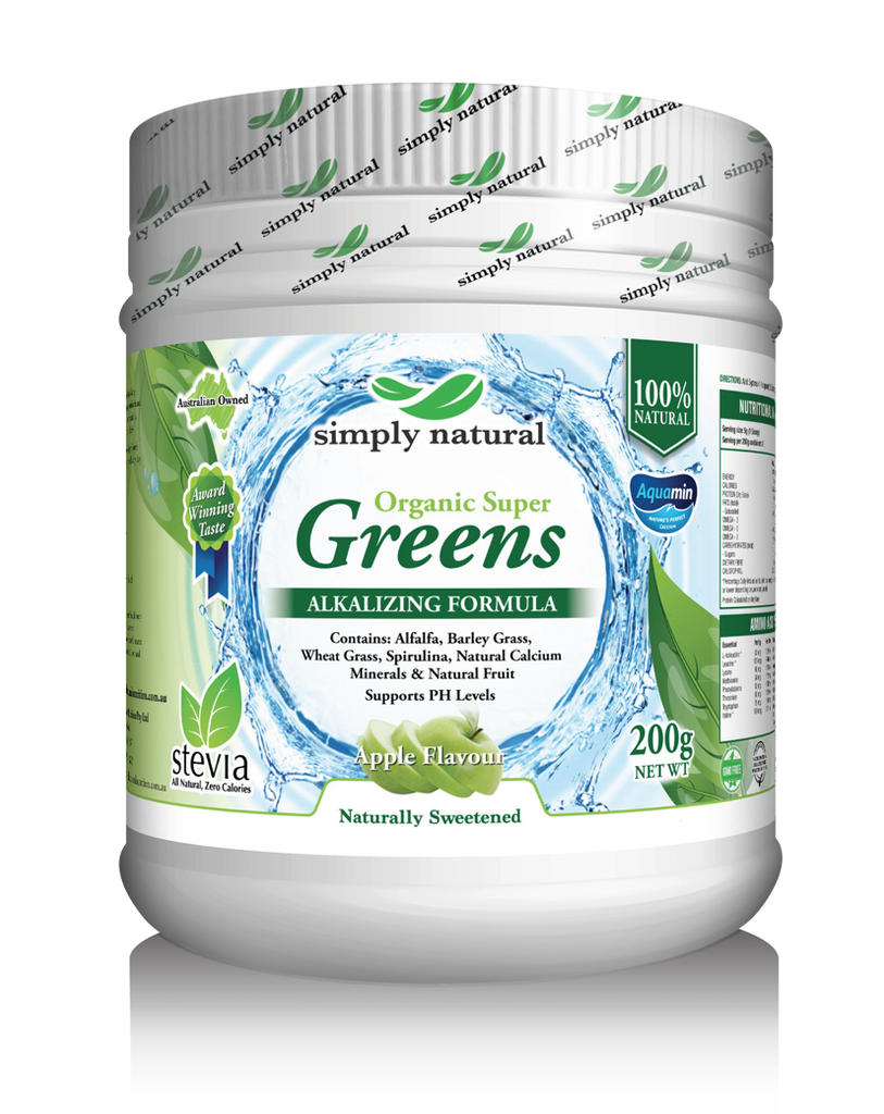 SIMPLY NATURAL ORGANIC SUPER GREENS + APPLE ALKALIZING FORMULA