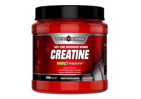 TOTAL SCIENCE CREATINE 500G ( CREAPURE) 100% PURE MICRONISED GERMAN