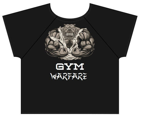 Gym Warfare Mad Dog Old School Bodybuilding Rag top