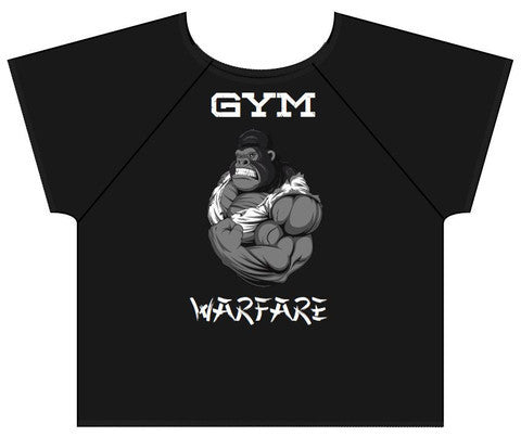 Gym Warfare Crazy Gorilla Old School Bodybuilding Rag Top