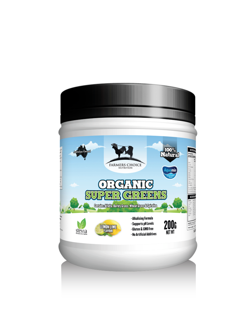 FARMER CHOICE NUTRITION ORGANIC CERTIFIED SUPER GREENS.